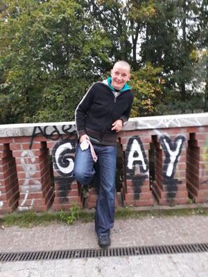 Gay Cruising auf Brücke in Berlin