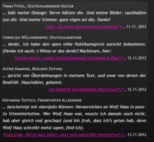 """Kritiken zur Kurzgeschichte """"Schaf e. V."""""""
